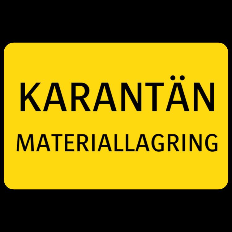 Karantän - Materiallagring klistermärke