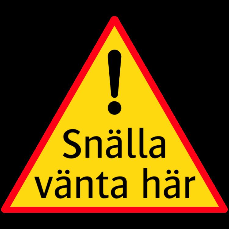 Snälla vänta här - klistermärke