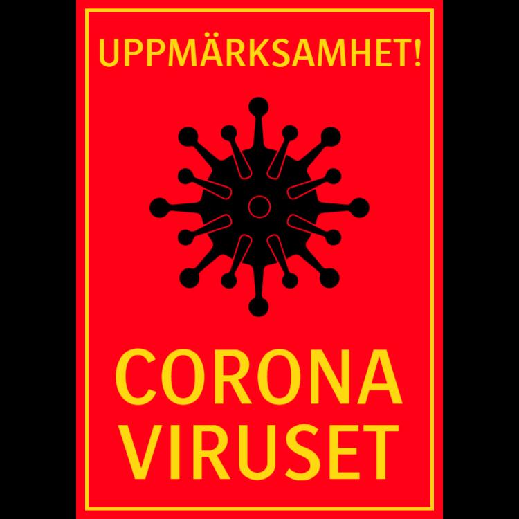 Uppmärksamhet Coronaviruset