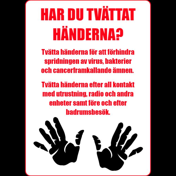 Har du tvättat händerna?