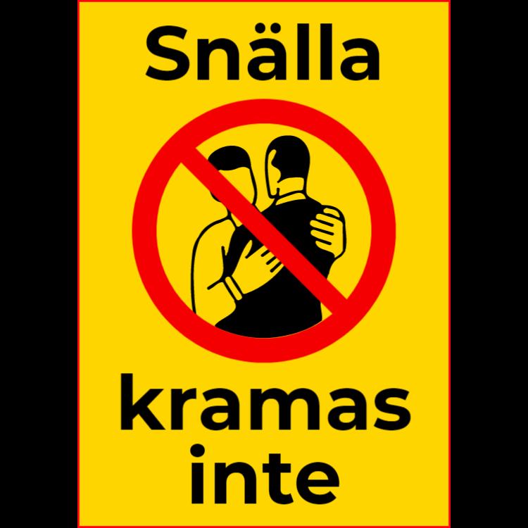 Snälla, kramas inte - klistermärke