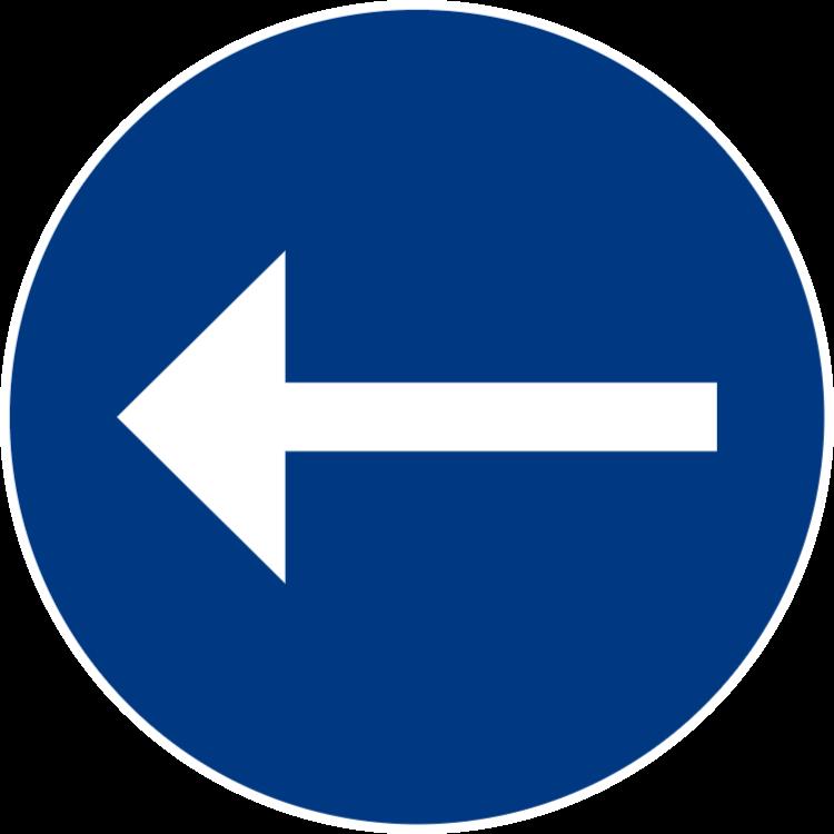 Påbjuden körriktning vänster