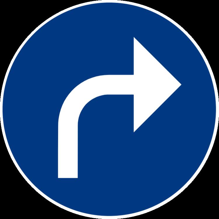 Påbjuden körriktning höger