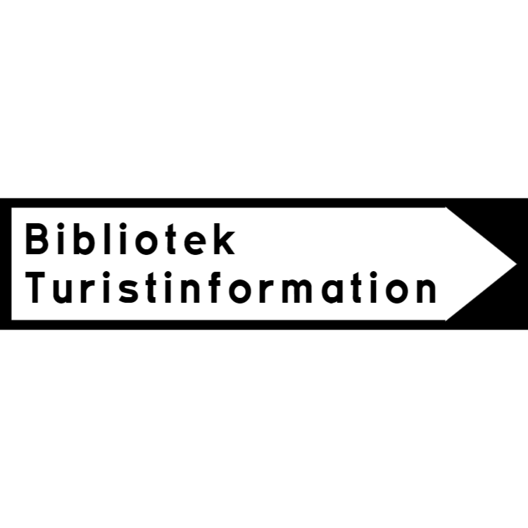 Bibliotek Turistinformation tecken