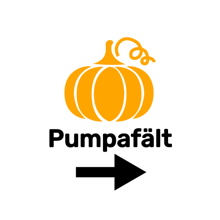 Pumpafält tecken