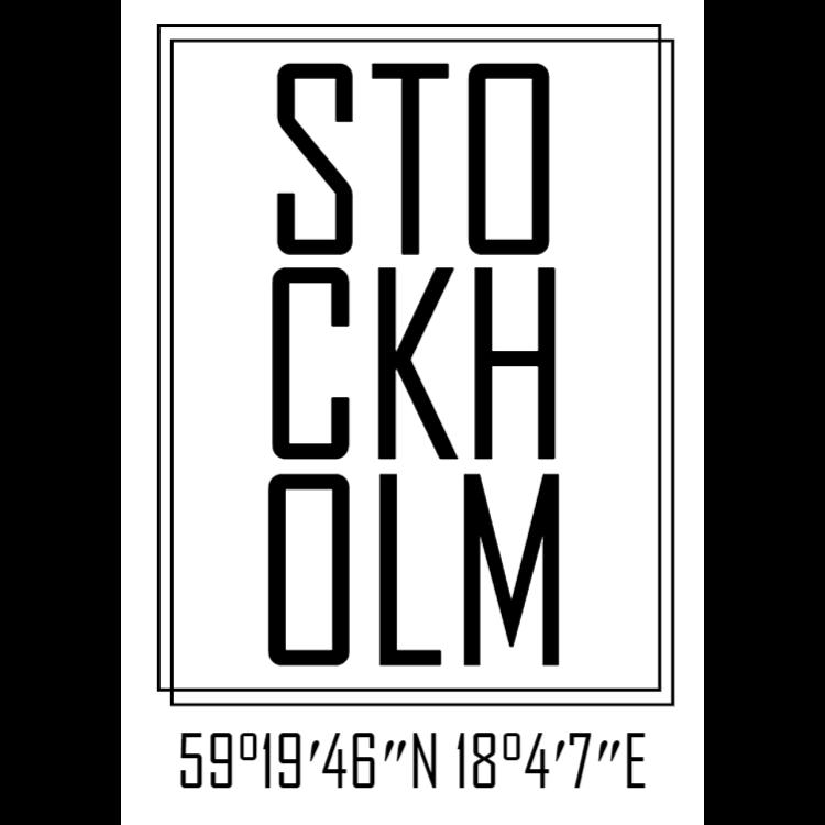Vitt Stockholm skylt