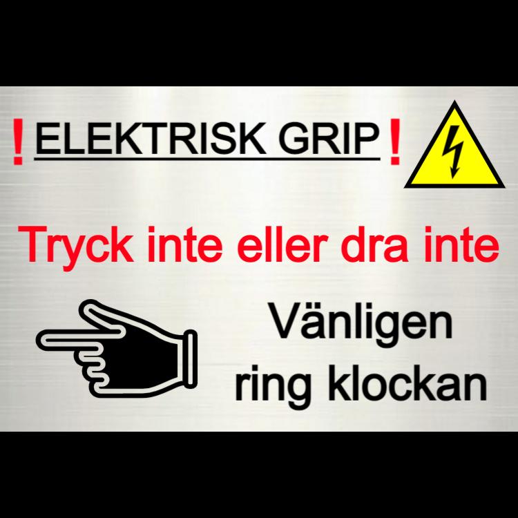 Elektrisk port - ring klockan