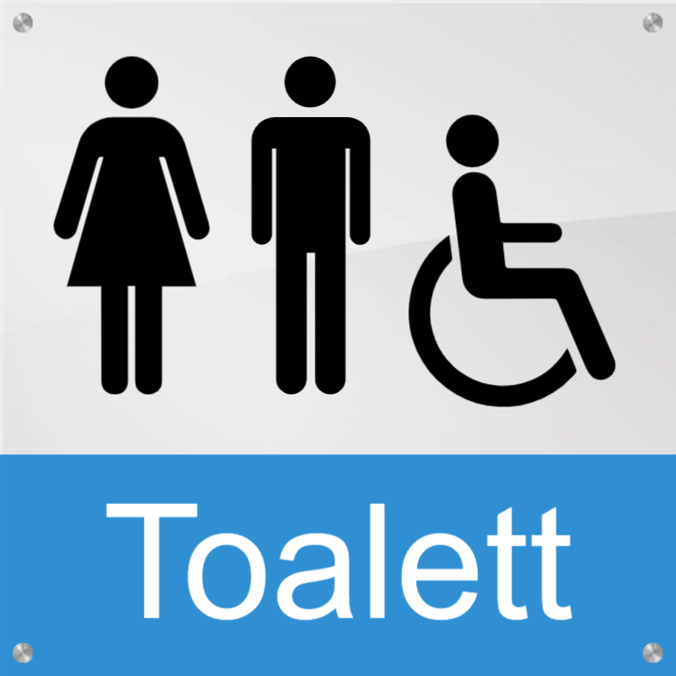 Toalett - Akrylskyltar 2