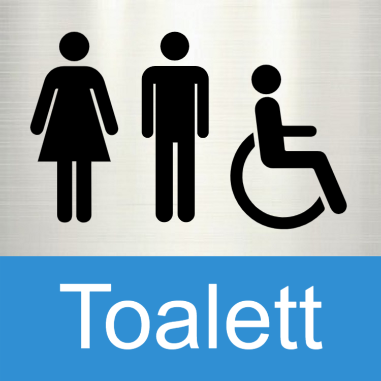 Toalett - Aluminiumskyltar 2