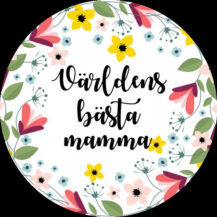 Världens bästa mamma - Dekaler