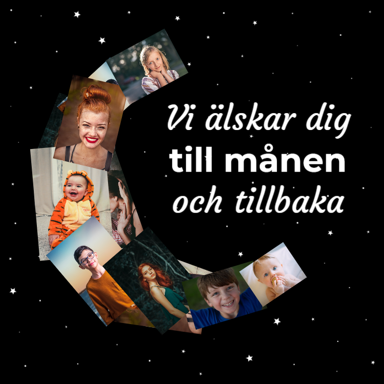 Vi älskar dig till månen och tillbaka
