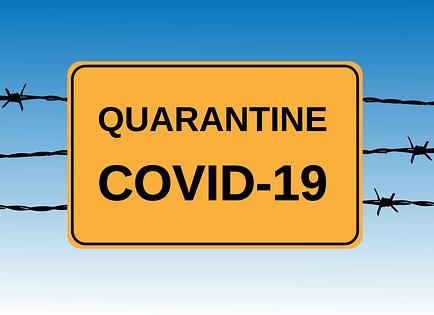 Coronaviruset (COVID-19) - karantänskyltar