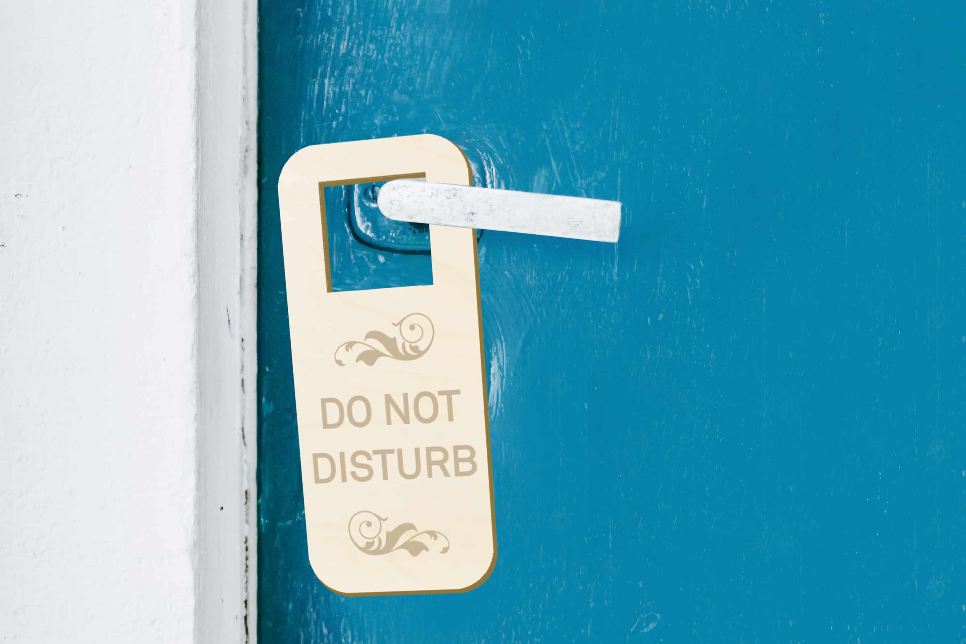 Hotell dörrhängare