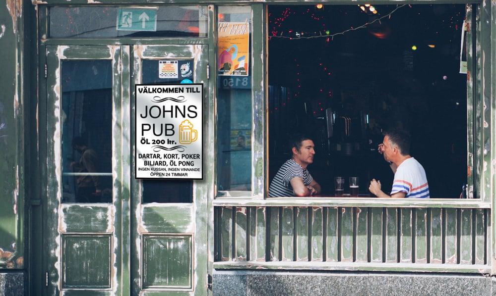 Bar-skyltar