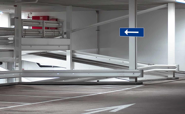 Underjordiska parkeringsskyltar
