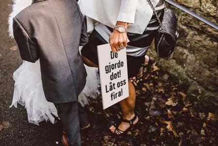 Bröllopsskyltar
