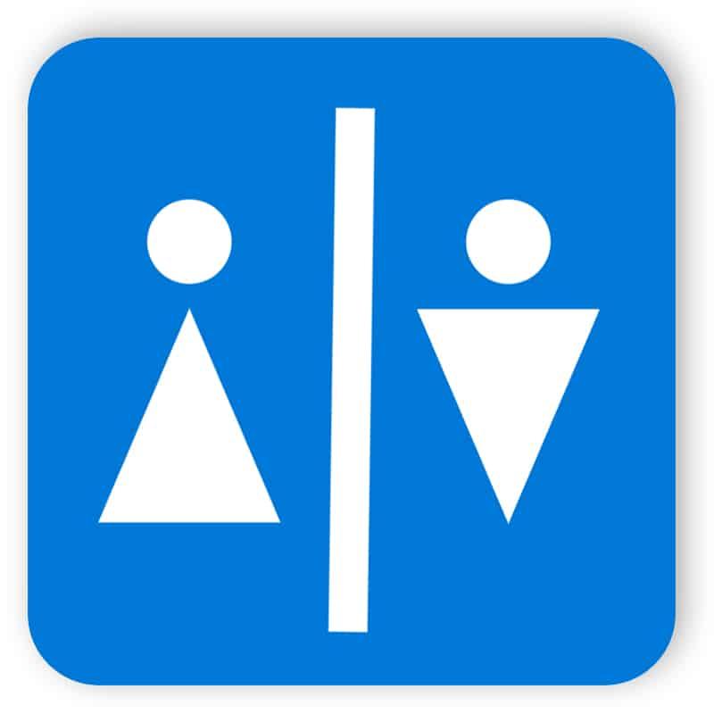 Toalett dörrskylt 1