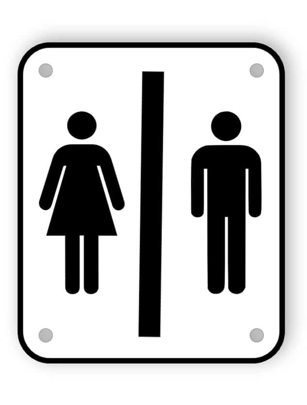 Toalett dörrskylt 2