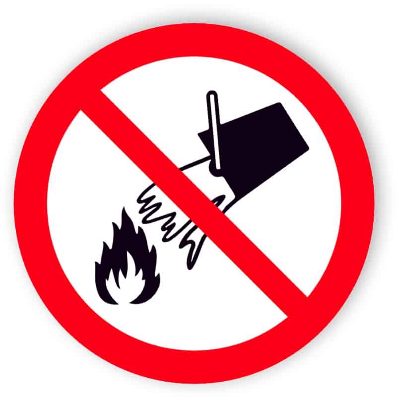 förbjuden användning vatten