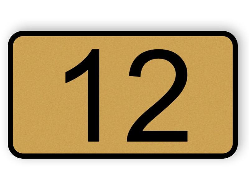 Dörrenummer plack - bronsfärgplast