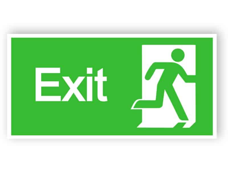 Exit sign - höger