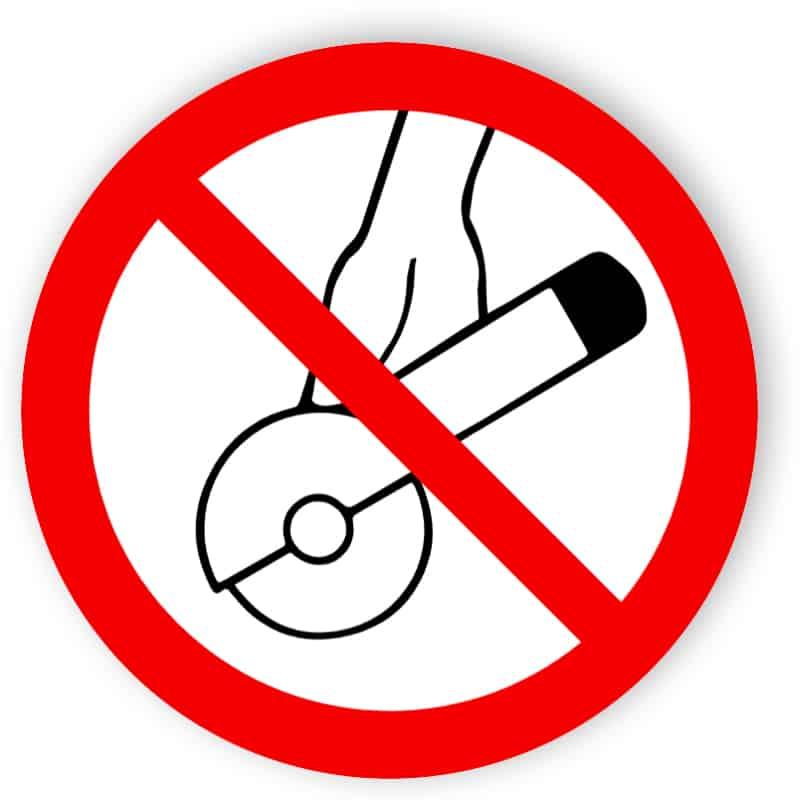 Inte tillåtet för fri hand och manuellt styrd slipning