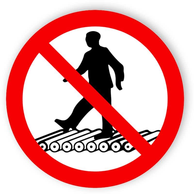 Trampa inte på rullbanan