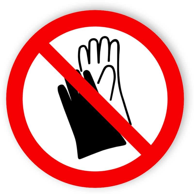 Bär skyddshandskar förbjudna