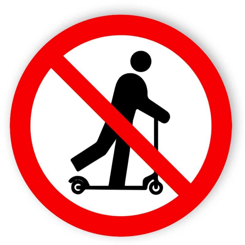 Scooter ridning förbjuden
