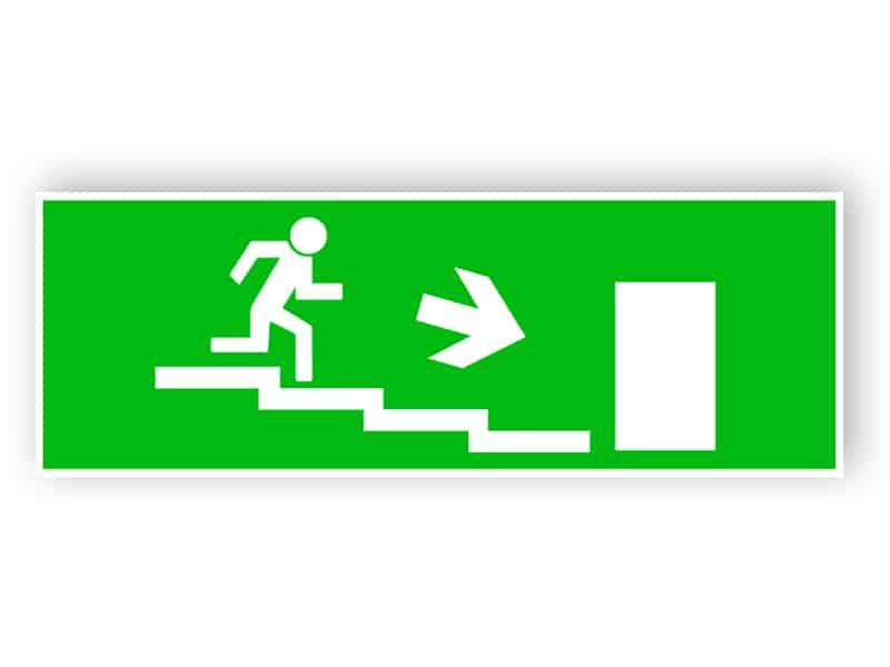 Nödutgång trappa ned höger