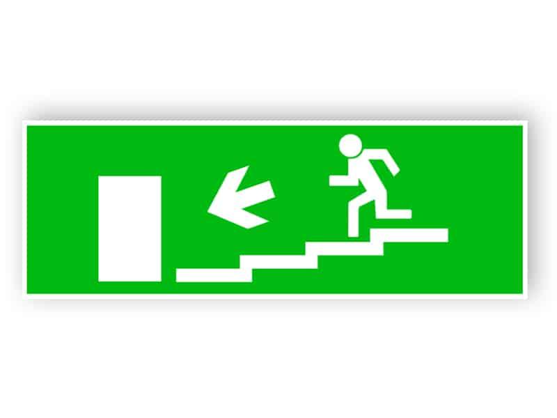 Nödutgång trappa ned vänster