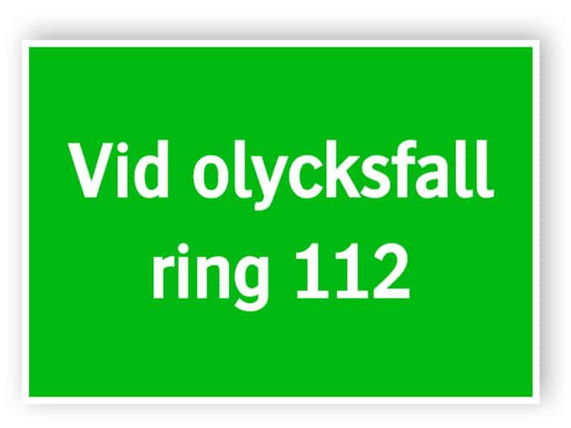 id olycksfall ring 112