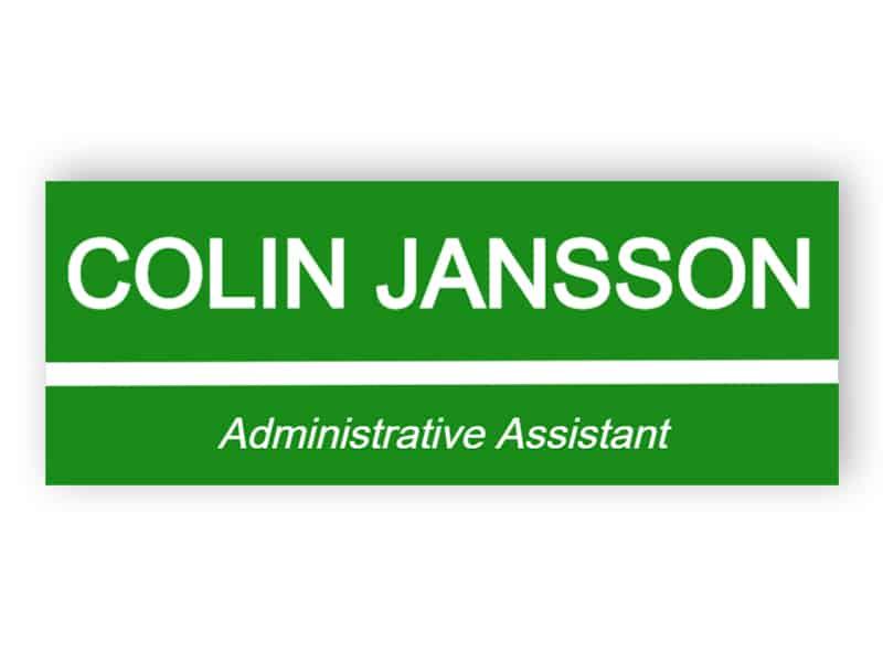 Namnskylt - administrativ assistant