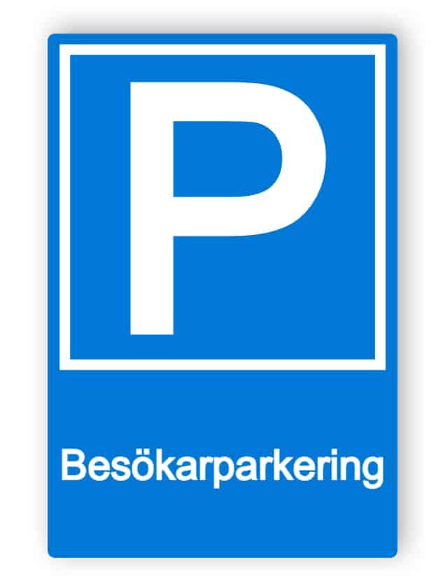 Besökarparkering skylt