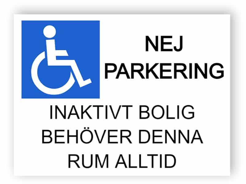 Ingen parkeringsskylt