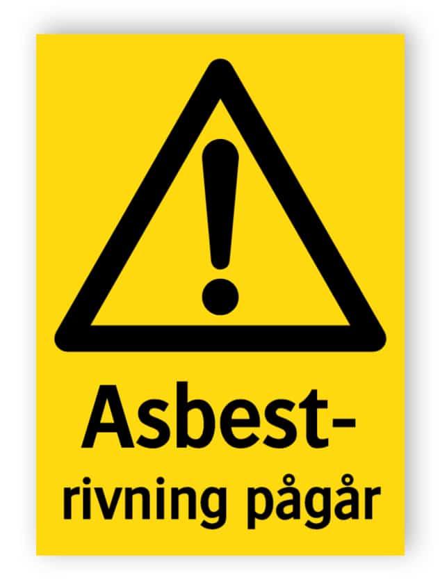 Asbestrivning pågår