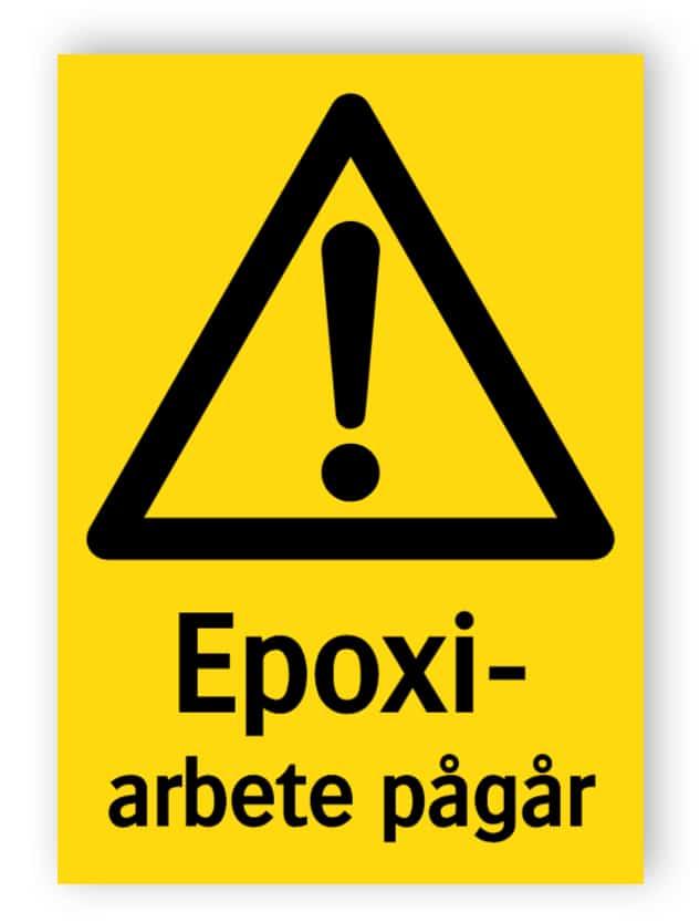Epoxiarbete pågår