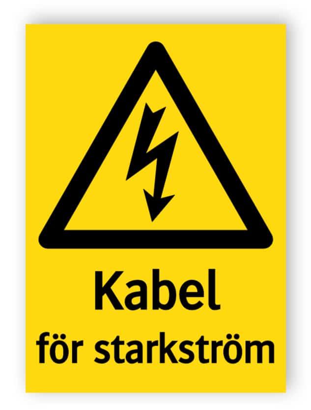 Kabel för starkström