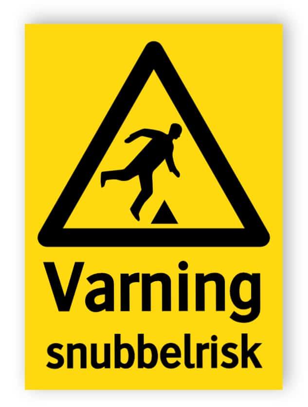 Varning snubbelrisk