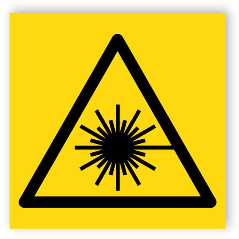 Laserstrålning symbol