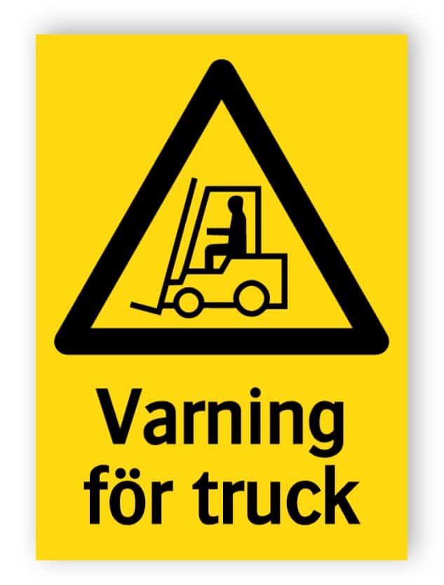 Varning för truck