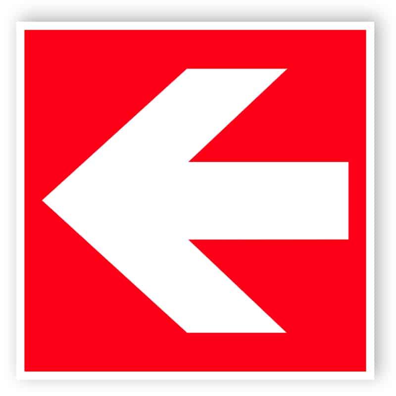 Brandpil höger/vänster