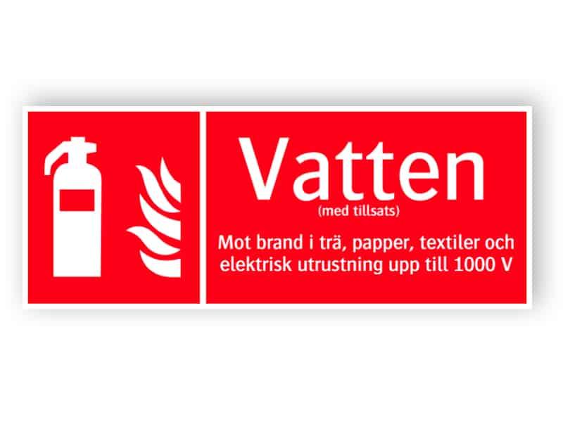 Brandsläckare vatten 1