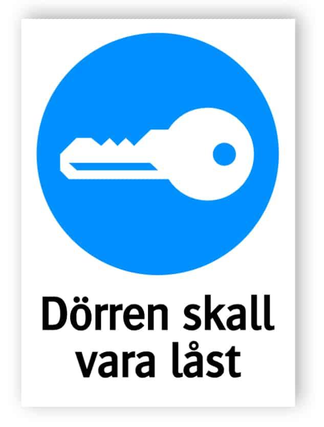 Dörren skall vara låst