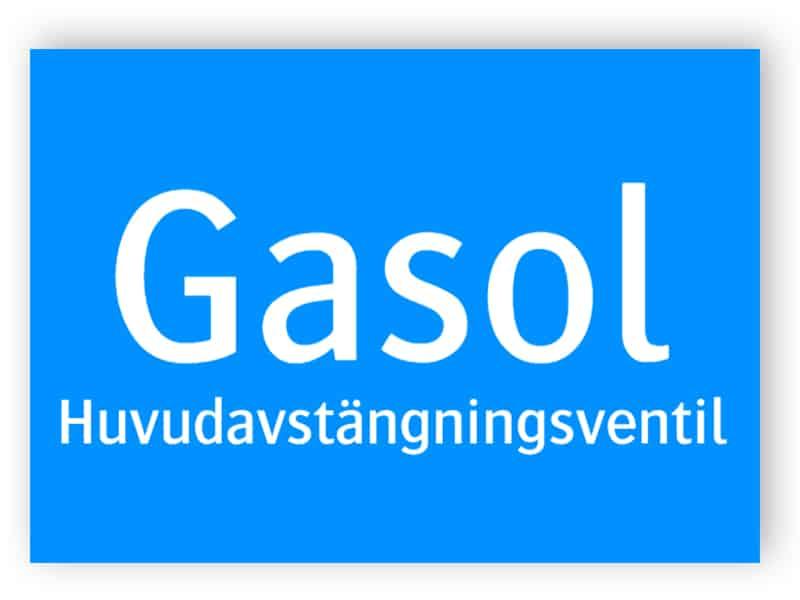 Gasol huvudavstängningsventil