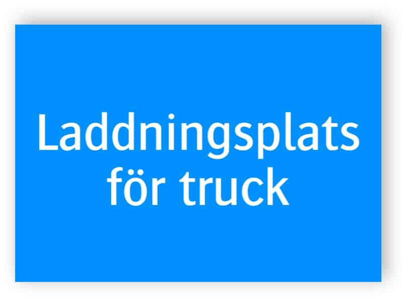 Laddningsplats för truck