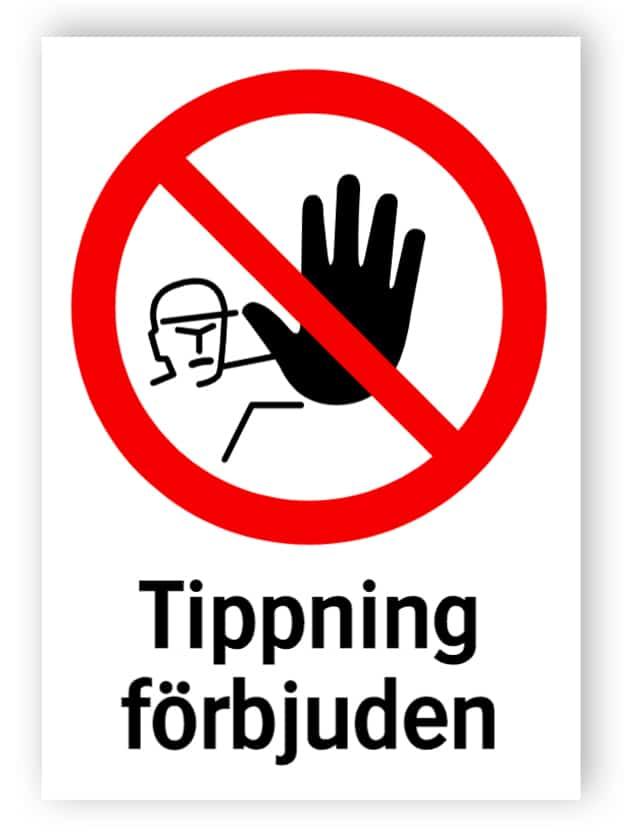 Tippning förbjuden