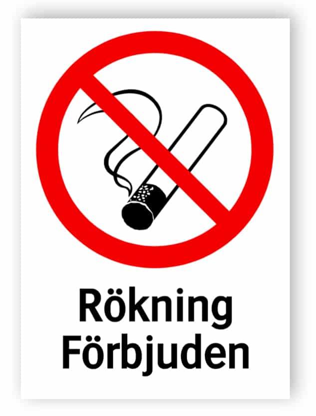 Rökning förbjuden 1