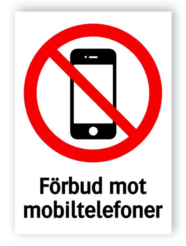 Förbud mot mobiltelefoner