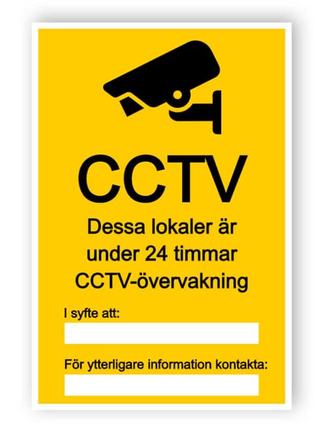 CCTV-tecken med två tomma textrutor